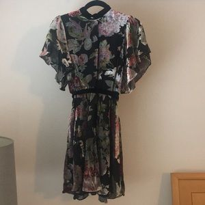Zara Woman Velvet Burnout Dress